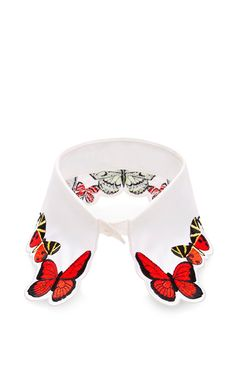 Fauna Butterfly Embroidered Collar by Vivetta