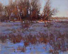 Winter Light Fading by Barbara Jaenicke Pastel ~ 8 x 10