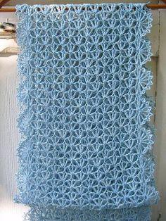 Diy Crafts - DIY,lace-Lace Scarf Shawl Lace Shawl Scarf Scarf Diy Crafts maallureAgain, we can easily make a fishnet shawl m Crochet Scarf Diagram, Poncho Crochet, Crochet Shell Stitch, Crochet Motifs, Crochet Scarves, Free Crochet, Easy Knitting Patterns, Crochet Stitches Patterns, Ravelry