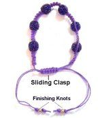 Knotted Sliding Clasps: several techniques from www.free-macrame-patterns.com