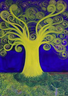 The Millenary Dragon Tree, acrylic on canvas, 2015, Thelli.