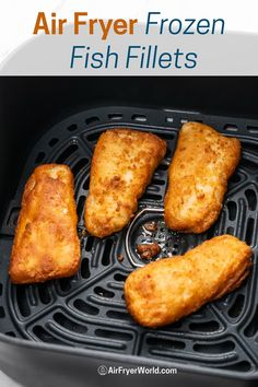 How to Cook Air Fryer Frozen Fish Fillets CRISPY EASY and perfect. Best recipe for air fired fish fillets from frozen. Great for Air frying fish & chips Air Fryer Oven Recipes, Air Frier Recipes, Air Fryer Dinner Recipes, Easy Dinner Recipes, Easy Meals, Air Fry Fish Recipe, Frozen Fish Recipes, Air Fried Fish, Baked Fish