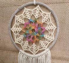 Crochet Edging Patterns, Crochet Mandala Pattern, Filet Crochet Charts, Crochet Fabric, Crochet Home, Free Crochet, Knitting Patterns, Knit Crochet, Big Dream Catchers