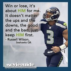 Russell Wilson - quarterback of the Seattle Seahawks