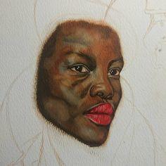 Oil Portrait, Close Up, Detail, Painting, Beauty, Instagram, Art, Idea Paint, Art Production