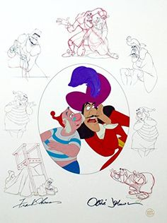 Disney Peter Pan Captain Hook & Smee Cel Signed Frank Thomas Ollie Johnson cell @ niftywarehouse.com #NiftyWarehouse #Disney #DisneyMovies #Animated #Film #DisneyFilms #DisneyCartoons #Kids #Cartoons