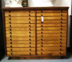19th c  Print cabinet 26 drawer