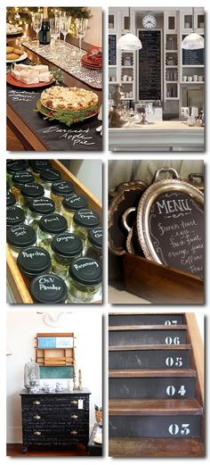 "Chalkboard Paint is very ""in"" and is used for a variety of different projects."
