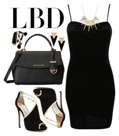 """""""Classic: LBD"""" by codilocks ❤ liked on Polyvore featuring Pilot, Jimmy Choo, Alexis Bittar, MICHAEL Michael Kors, Yves Saint Laurent and Iman"""