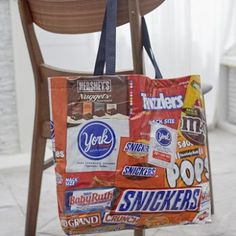 tote made from candy