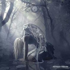 The Dark Fantasy Art of Nathalia . Dark Fantasy Art, Fantasy Art Angels, Fantasy Women, Wallpapers Geeks, Arte Obscura, Ange Demon, Angels And Demons, Fallen Angel Art, Angel Wings Art
