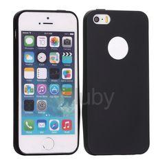 Flexible Silikonhülle für iPhone 5S 5 - Schwarz