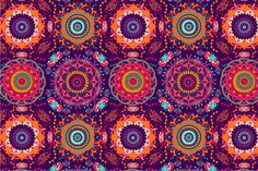 Colorful seamless pattern by Sunny_Lion on Creative Market