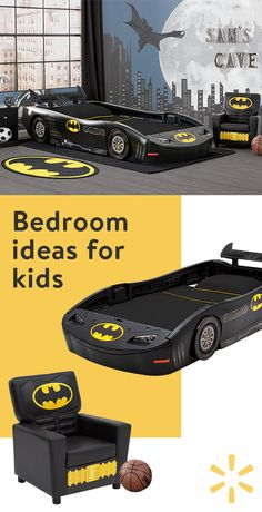 Scan the bedroom ideas for a straightforward room decorating project. Scan the bedroom Cama Do Batman, Dc Comics, Batman Bedroom, Superhero Room, Batman Boys Room, Batman Batmobile, Delta Children, Kid Beds, Bedroom Decor