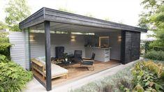 Incredible Backyard design with luxurious backyard pavilion. Backyard Design, Outdoor Kitchen Design, Luxurious Backyard, Patio Design, Garden Pavilion, Backyard Bar, Backyard Pavilion, Garden Buildings, Luxury Garden