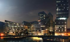 View of Waterfront. Image Courtesy of Louis Paillard Architects