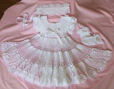 Baptism Christening dress set    Pineapple by HandmadebyNadiyaK, $89.99