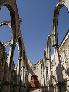 Lisboa - Ruinas do Convento do Carmo | Flickr - Photo Sharing!