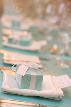 Tiffany Inspired Wedding Giftboxes