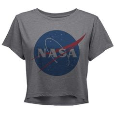 NASA Shirt NASA Holographic Black TShirt Women Crop by