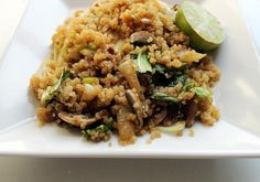 """The Real Benefits of Eating Quinoa: Pictured: <a href=""""http://vegetarian.about.com/od/wholegrainscouscous/r/Vegan-Quinoa-Fried-Rice-with-Bok-Choy-and-Mushrooms.htm"""">Quinoa """"fried rice""""</a>"""