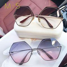 268fcc205fbc7 Tanie: Moda Ponadgabarytowych Okulary Kobiety UV400 Retro Marka Projektant  Big Rama Okulary Przeciwsłoneczne Dla Kobiet