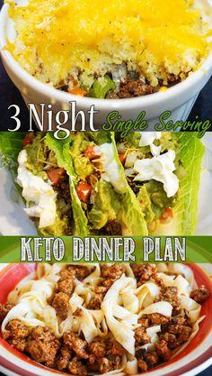 Single Serve Keto Dinners! ketoconnect.net