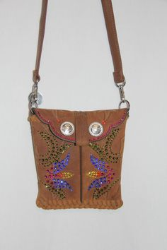Western Boot Purse featuring two Swarovski by GriffinsCloset, $150.00