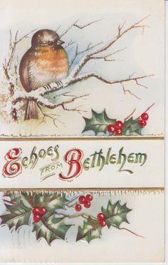 Echoes from Bethlehem
