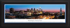 Philadelphia, PA City Skyline Panoramic Pictures & Posters