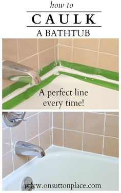 DIY Money Saving Home Repairs- Tutorials including how to caulk a tub by 'On Sutton Place'!