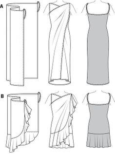 Mujeres y alfileres: Vestido playero super fácil