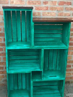 Ikea Furniture, Furniture Makeover, Painted Furniture, Wood Crate Furniture, Bookcase Makeover, Antique Furniture, Modern Furniture, Crate Bookcase, Bookshelves