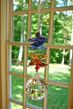 Namaste Long  Swarovski Crystal Sun by HeartstringsByMorgan, $37.00