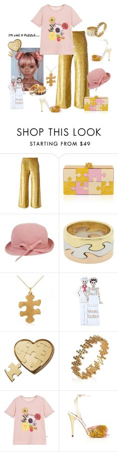 """Where is this bloody last puzzle piece?!"" by juliabachmann ❤ liked on Polyvore featuring Ashish, Balenciaga, Georg Jensen, Allurez, NOVICA, AERIN, Maiko Nagayama, STELLA McCARTNEY and Tory Burch"