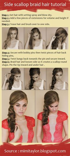 Love! Side scallop braid hair tutorial | Beauty Tutorials