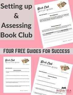 Book Club FREEBIES for Set-up & Assessment for Secondary ELAThe Bespoke ELA Classroom