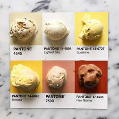 Pantone Food byLucy Litman.