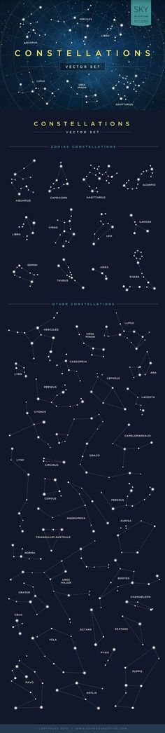 Constellations Vector Set by skyboxcreative
