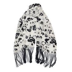 Flynn - Artistic elegance in luminous silk, classic black and white.