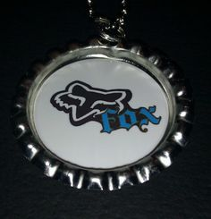 Fox Racing Inspired Bottle Cap Necklace #13 $4.00