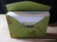 Stamp & Scrap with Frenchie: Card Box made with Stampin'Up! Envelope Punch Board Mystery Host over 300.00
