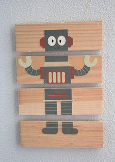 DIY Mix and Match Robots Puzzles