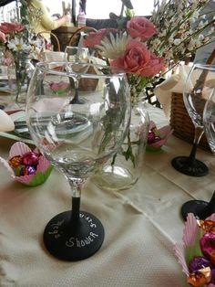 Bridal Shower keepsake wine glasses