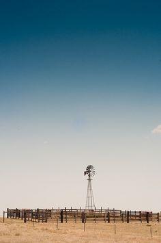 Road tripping across America - beautiful windmill in Nebraska
