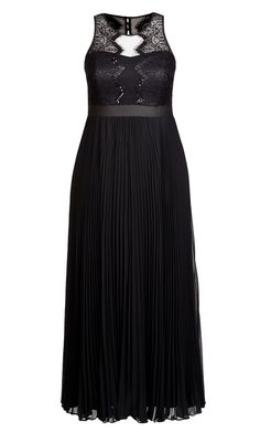 City Chic Vanity Maxi Dress - Women's Plus Size Fashion - City Chic Your Leading Plus Size Fashion Destination #citychic #citychiconline #newarrivals #plussize #plusfashion #occasiondress #wedding #engagement #races #raceready #bridesmaid