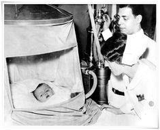 Tienda de oxígeno pediátrica en 1932