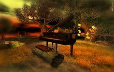 Piano. #digitalpiano #flychord Piano Bar, Upright Piano, Digital Piano, Console, Dark, Outdoor Decor, Consoles