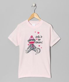 Look at this #zulilyfind! Pink 'Sock It to Cancer' Tee - Girls by Airwaves #zulilyfinds