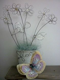 fleurs fil de fer